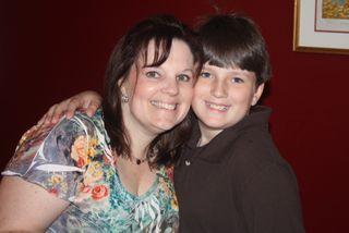 Drew and me