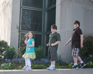 Walking trio