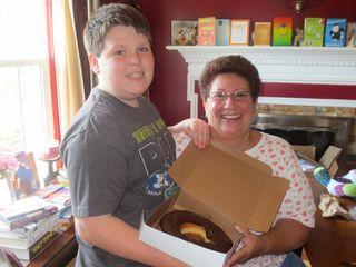 Giant donut wMs Anne