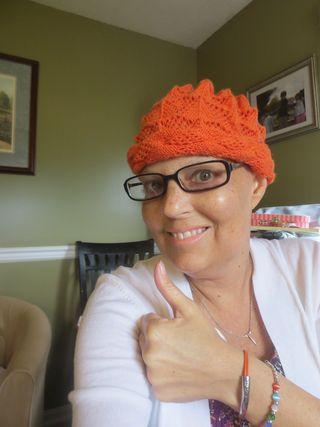 Orange thumbs up